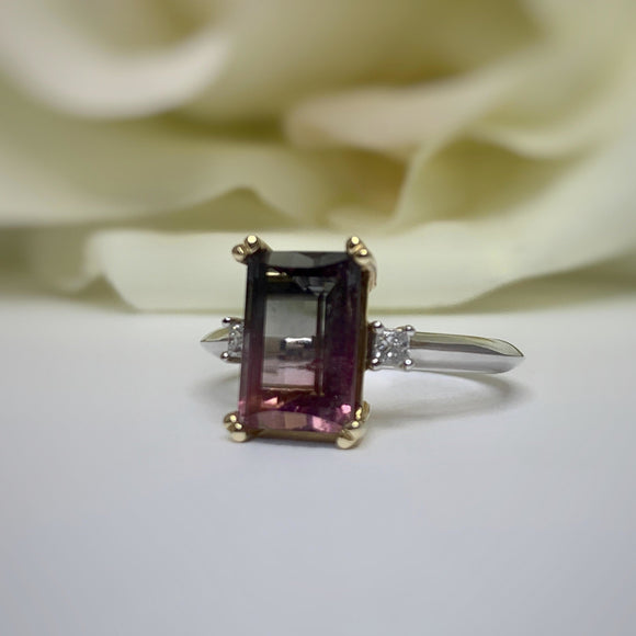 TJ's Custom Bi-Color Tourmaline Ring
