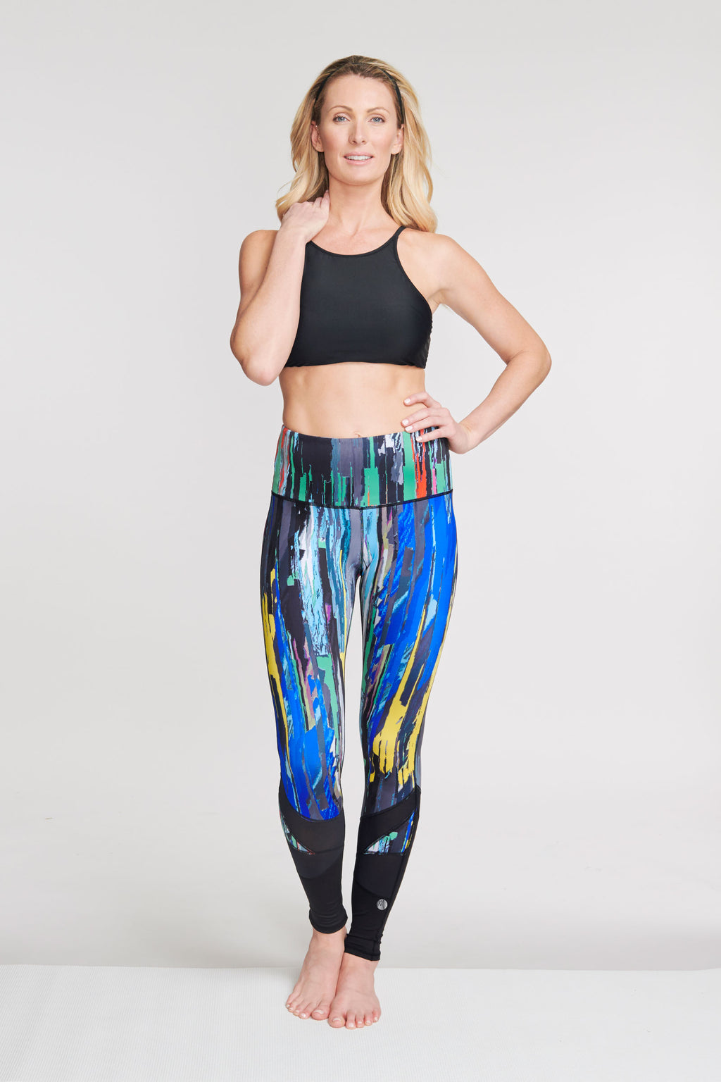 High Waisted Slimming Full Length Legging in Painted Palette