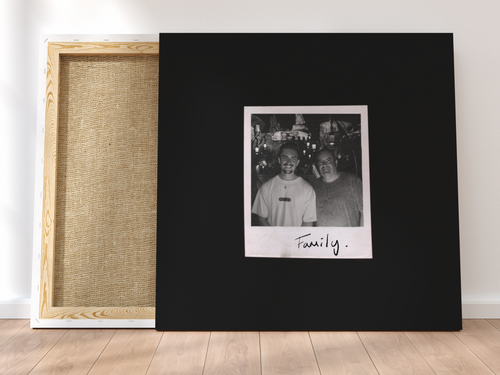 Personalised Single-Polaroid Canvas (Black)