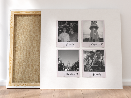 Personalised Multi-Polaroid Canvas (White)