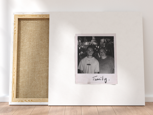 Personalised Single-Polaroid Canvas (White)