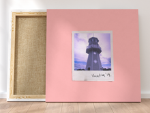 Load image into Gallery viewer, Personalised Single-Polaroid Canvas (Pink)