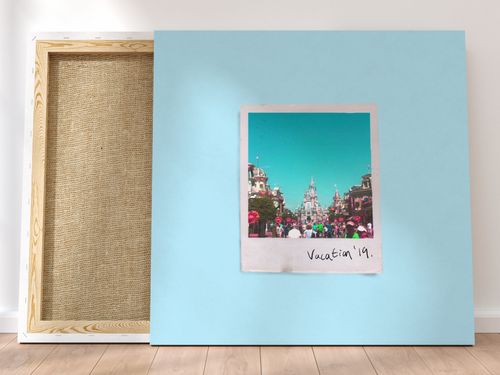 Personalised Single-Polaroid Canvas (Blue)