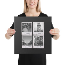 Load image into Gallery viewer, Personalised Multi-Polaroid Canvas (Black)