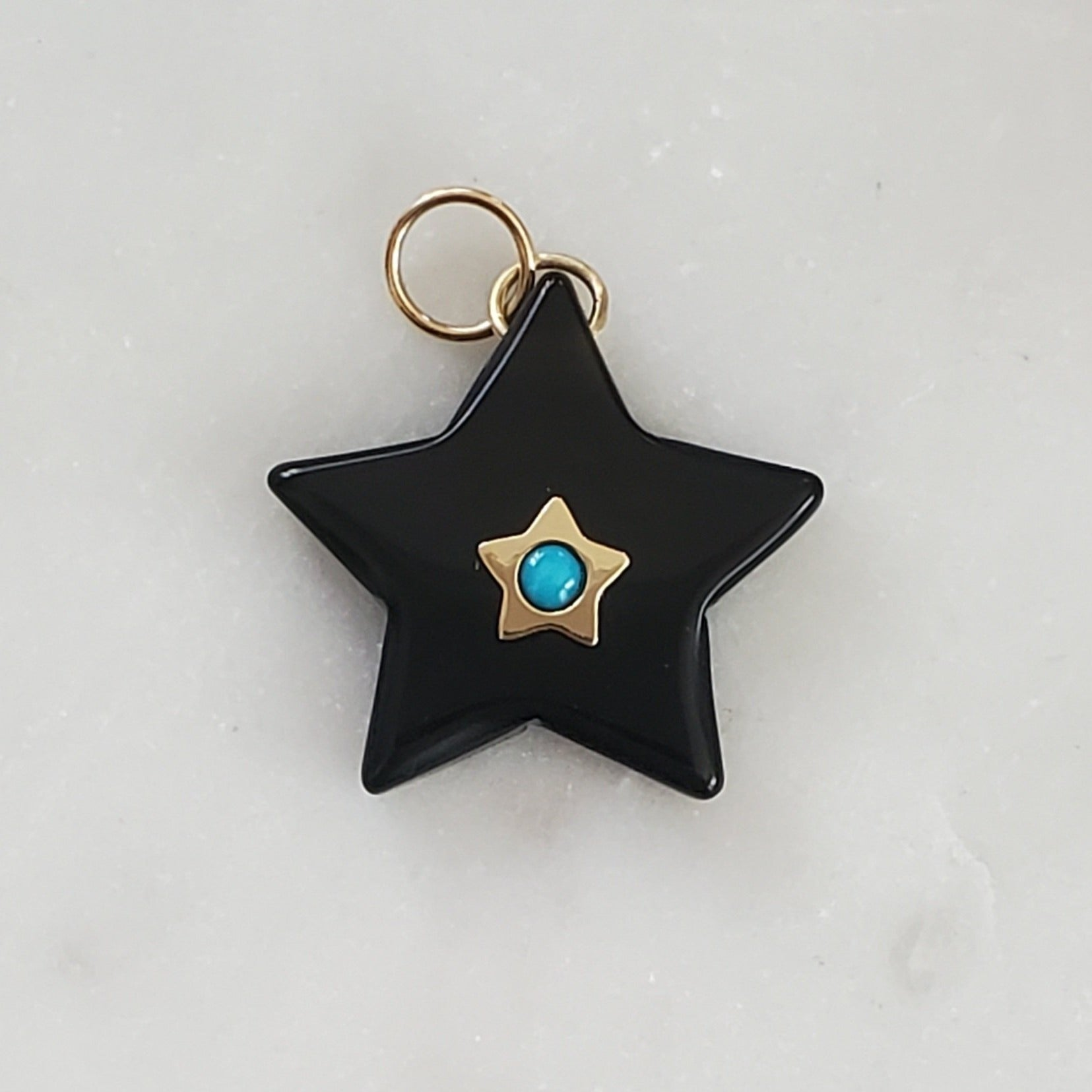 LUCKY☆STAR Black Onyx & Turquoise