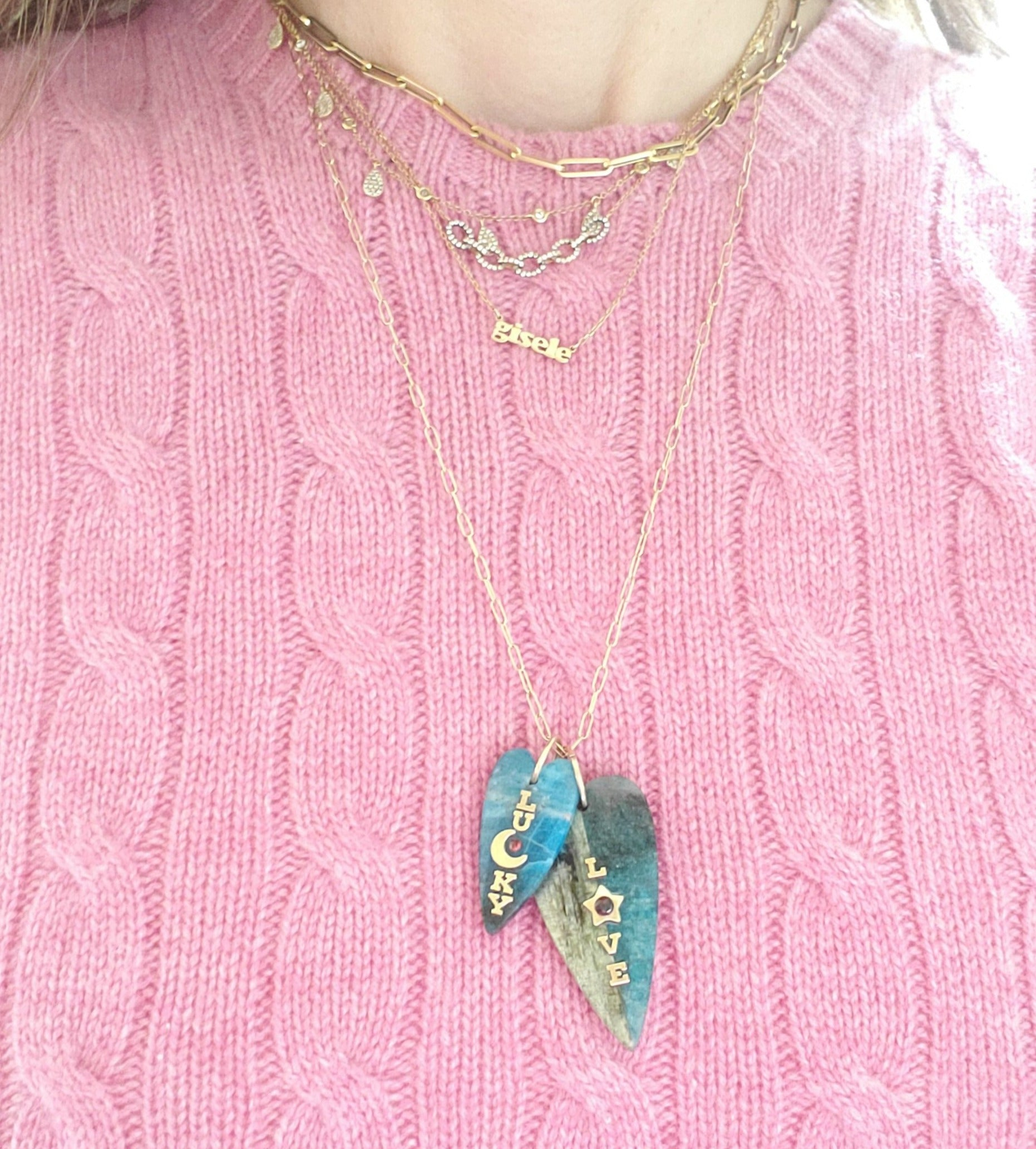 L☆VE Kyanite Heart (large)