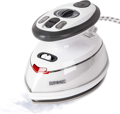 Duronic Mini Steam Iron SI3 | Small Compact Travel Steamer | Quilting Iron | 400W | 35ml Capacity | Variable Heat Settings | Jug, Bag & Heatproof Silicone Pad Included | Patchwork, Applique, Craft