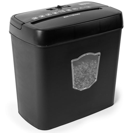 Duronic Paper Shredder PS712 | 5X A4 Sheets at a Time | Cross Cut | Electric | 12L Bin | 200W Power | GDPR: Protects Against Data Theft | Thermal Overload Protection