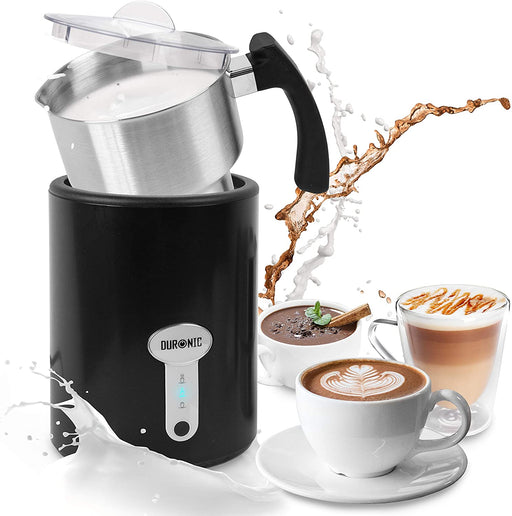 Duronic Milk Frother MF500 | Steamer for Coffee, Hot Chocolate, Cappuccino, Latte | Electric Milk Warmer | 500ml Stainless-Steel Jug | Easy to Use and Clean | Make Barista-Style Coffee at Home | 500W