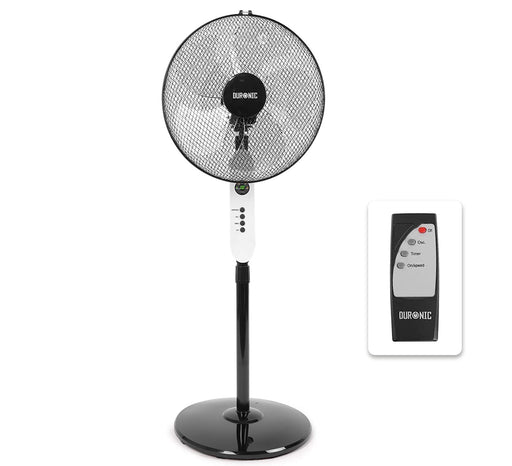 Duronic Pedestal Fan FN65 | Oscillating/Rotating | 3 Speeds | Remote Control | 16 Inch Tilting Head | Timer Function | Electric 60W | 3 Modes: low, medium, high | Cooling for Summer in Home/Office…