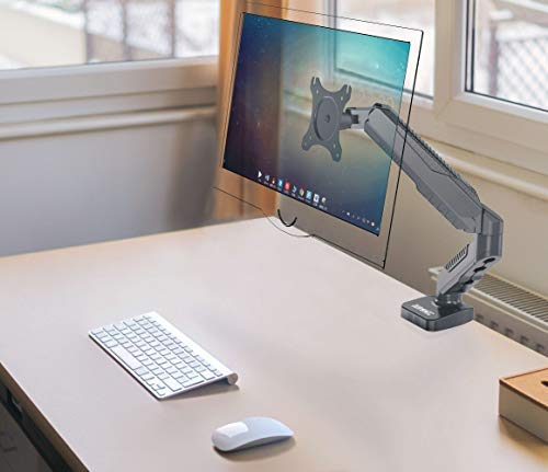 Duronic DMDC5X1 Gas Desk Mount Arm Monitor Stand Bracket Powered Full Motion Single LCD LED with Tilt and Swivel (Tilt +90°/-45°|Swivel 180°|Rotate 360°)…