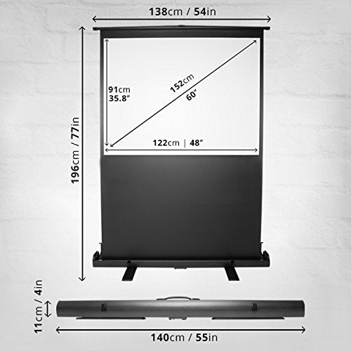 "Duronic Projector Screen FPS60/43 - 60"" Floor Projector Screen 