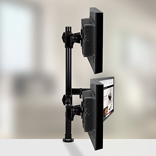 Duronic Monitor Arm Stand DM253 | Triple PC Desk Mount | Steel | Height Adjustable | For Three 13-27 LED LCD Screens | VESA 75/100 | 8kg Per Screen | Tilt -90°/+45°,Swivel 180°,Rotate 360°