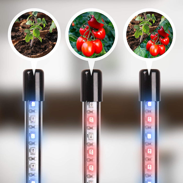 Duronic Grow Light GLC24 | Double Clip-On Lamp for Indoor Plants | Full Spectrum 36x Red & Blue LED Bulbs | 3 Colour Modes | 2 Heads with Adjustable Goosenecks | 40W | Dimmable 6x Brightness Levels