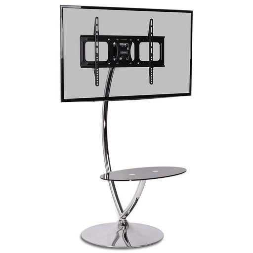 "Duronic TVS3F1 Floor TV Stand - Contemporary Designer Glass Shelf 30""-60"" TV Mount with Tilt. Suitable for LCD, Plasma, Led, 3D TV`s 32"" 37"" 40"" 42"" 46"" 50"" 60`"