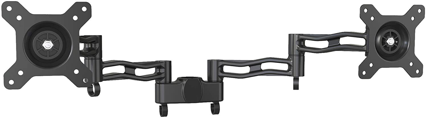 Duronic Dual Spare Arm Set DM35P2 | Two DM35 Arms with VESA Heads | Dual Joint Screen Arms | Compatible with All Duronic Monitor Desk Mounts & Poles | BLACK | Aluminium | Part of the DM35 Range