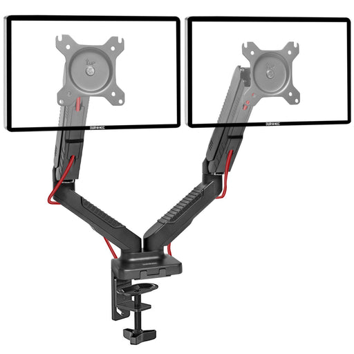 "Duronic Monitor Arm Stand DMDC52 | Dual Desk Mount for Two 13""-24"" LED/LCD PC/TV Screens 