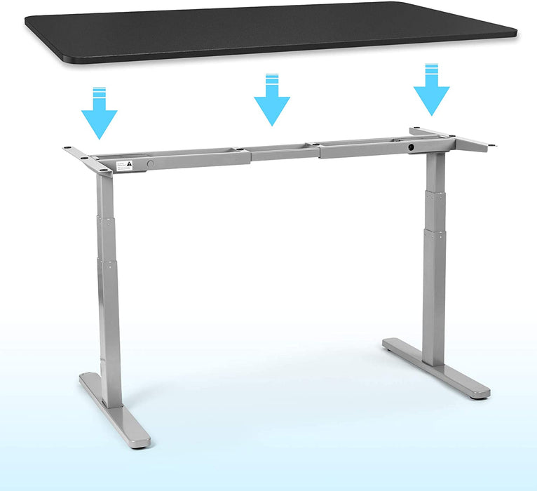 Duronic Sit Stand Desk Top TT127BK | Standing Desk Table Surface Only | Desktop for Duronic Height Adjustable Desk Frames | Ergonomic Office Furniture | BLACK | 120cm x 70cm
