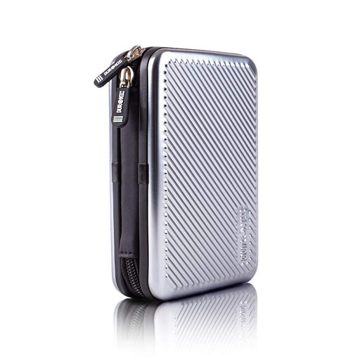 Duronic Hard Drive Case HDC3 /SR | SILVER | Portable ALUMINIUM Storage Pouch for External Hardrive & Cables | Lightweight & Protective |Suitable for Western Toshiba Buffalo Hitachi Seagate Samsung