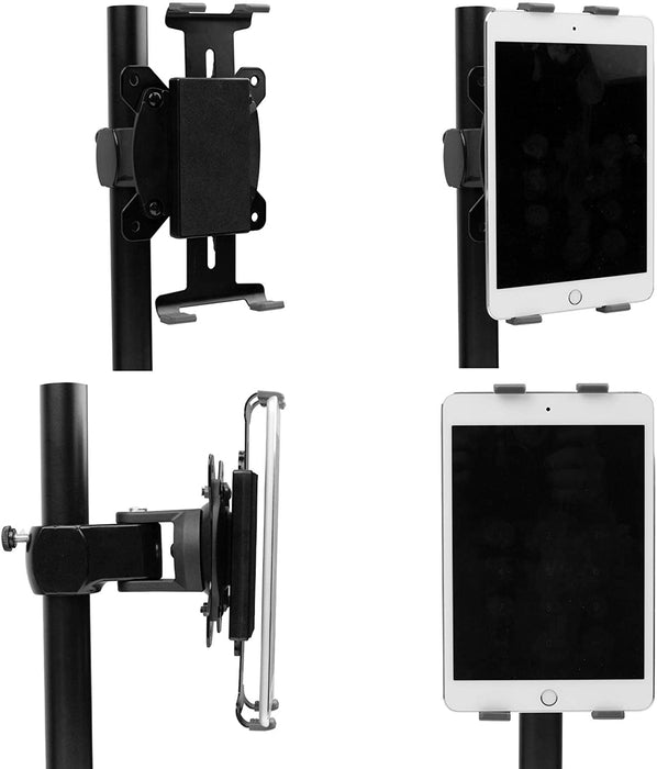 Duronic Tablet Attachment DMT1 | Desk Mount Adjustable Smartphone Holder | Universal Fitting | VESA 75/100 Bracket | Compatible with DM15 DM25 DM35 DM45 DM55 DM65 DMUSB DMDC DMG