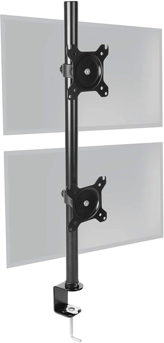 Duronic Dual Screen Monitor Stand DM15V2 | Double/Twin PC Desk Mount | For Two 13-32 Inch LED LCD Screens | Steel | Adjustable | | VESA 75/100 | 8kg/17.6lb Per Screen | Tilt -15°/+15°, Rotate 360°