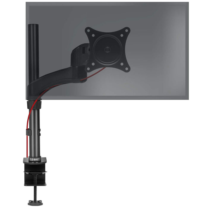 Duronic Monitor Arm Stand DM451X2 | Single PC Desk Mount | Solid Steel | Height Adjustable | For One 13-27 LED LCD Screen | VESA 75/100 | 13kg Per Screen | Tilt -90°/-45°, Rotate 360°