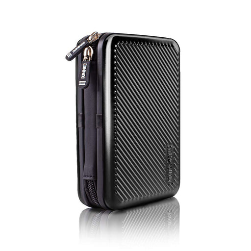 Duronic Hard Drive Case HDC3 /BK | BLACK | Portable ALUMINIUM Storage Pouch for External Hardrive & Cables | Lightweight & Protective |Suitable for Western, Toshiba, Buffalo, Hitachi, Seagate, Samsung