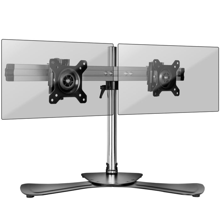 Duronic DM752 Double Twin LCD LED Desk Top Mount Arm Monitor Stand Bracket with Tilt and Swivel (Tilt ±15°|Rotate 360°) + 10 Year Warranty