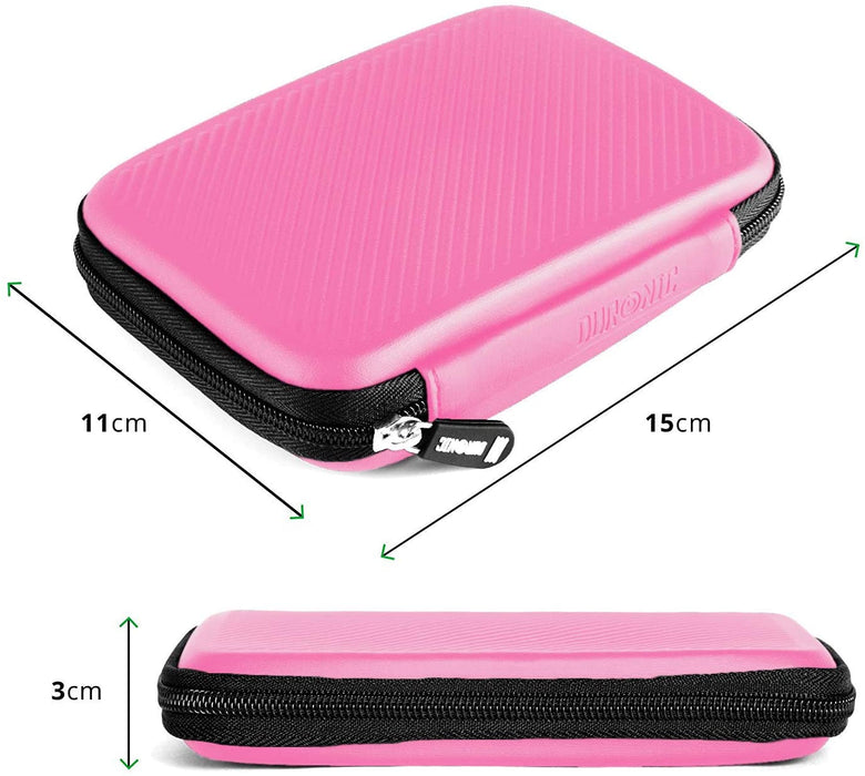 Duronic Hard Drive Case HDC2 /PK | PINK | Portable EVA Storage Pouch for External Hardrive & Cables | Lightweight & Protective | Suitable for WE/Western, Toshiba, Buffalo, Hitachi, Seagate, Samsung