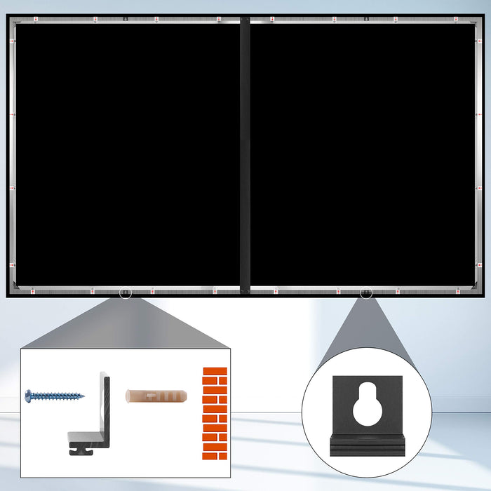 Duronic Projector Screen FFPS92/169 | 92-Inch Fixed Frame Projection Screen | Wall Mountable | +1 Gain | HD High Definition Image | 16:9 Ratio | Ideal for Home Theatre, Classroom, Office…