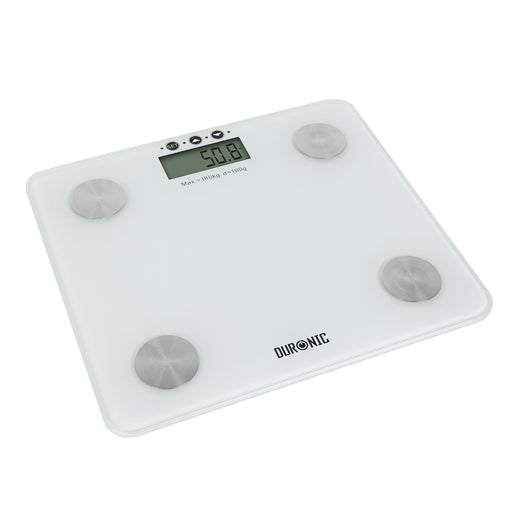 Duronic Bathroom Scale BS301 180KG Touch Sense Body Fat Analyser Electronic Slim Digital Display Glass Platform | Body | Bathroom Scales | 4 Precision Sensors