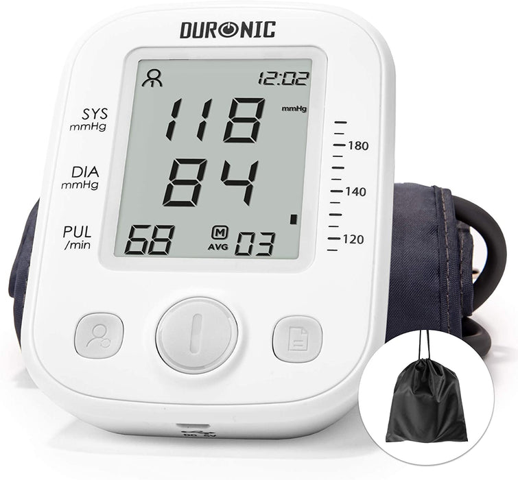Duronic Upper Arm Blood Pressure Monitor BPM200 | Automatic | BP Machine for Professional and Home Use | Large Digital LCD Display | For 1 or 2 Users | 99 Record Memory | Medium-Sized 22cm-36cm Cuff