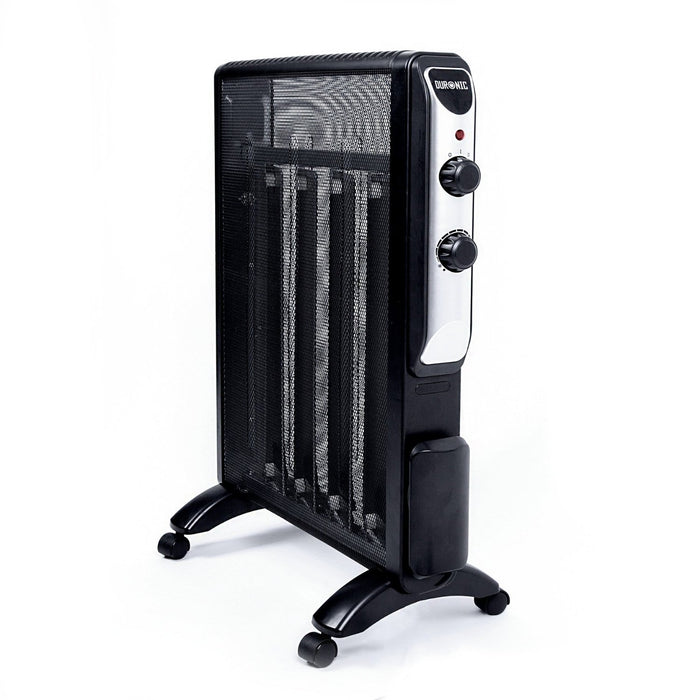 Duronic HV220 Electric Heater Mica Panel Oil Free Radiant Convector Heater with thermostat - 2KW - Heats up in 1 Minute