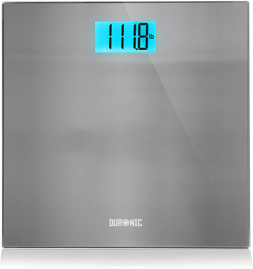 Duronic Body Scales BS103 | Measures Body Weight in Kilograms, Pounds and Stones | Stainless-Steel Design | Step-On Activation Bathroom Scales | Precision Sensors | 180kg Capacity