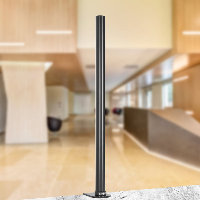 Duronic DM15 DM25 DM35 61cm Pole | Compatible with All Duronic Monitor Desk Mount Arms | Black | Steel | Long | 610mm Length | 32mm Diameter | Clamp Included