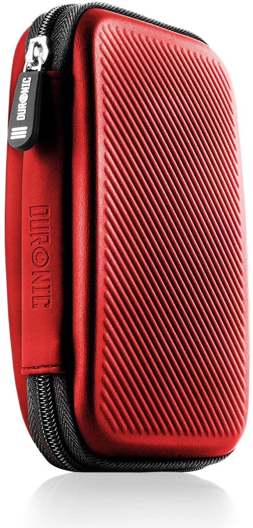 Duronic Hard Drive Case HDC2 /RD | RED | Portable EVA Storage Pouch for External Hardrive & Cables | Lightweight & Protective | Suitable for WE/Western, Toshiba, Buffalo, Hitachi, Seagate, Samsung