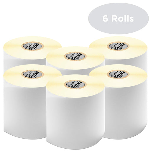 "Duronic Thermal Labels LL4X6 (6 ROLLS) SFP Seller Fulfilled Prime | 500x Label Roll | 102mmx152mm (6""x4"") 