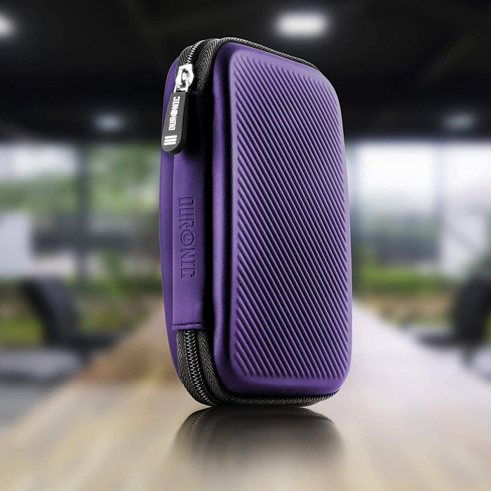 Duronic Hard Drive Case HDC2 /VT | VIOLET | Portable EVA Storage Pouch for External Hardrive & Cables | Lightweight & Protective | Suitable for WE/Western, Toshiba, Buffalo, Hitachi, Seagate, Samsung