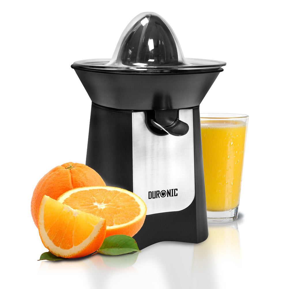 Duronic Citrus Fruit Juicer JE6BK Black 100W Powerful Citrus Press Juicer/Juice Squeezer Extractor with Dripless Spout…