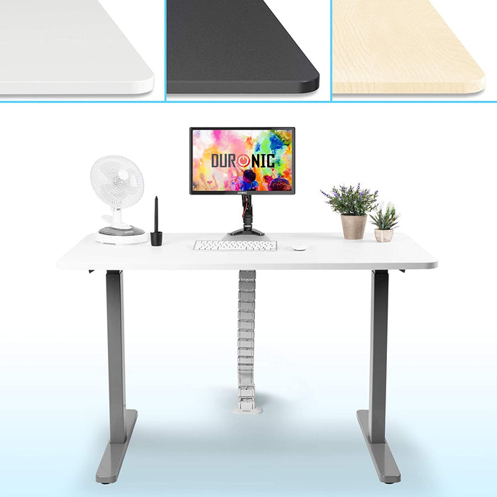 Duronic Sit Stand Desk Top TT127WE | Standing Desk Table Surface Only | Desktop for Duronic Height Adjustable Desk Frames | Ergonomic Office Furniture | WHITE | 120cm x 70cm