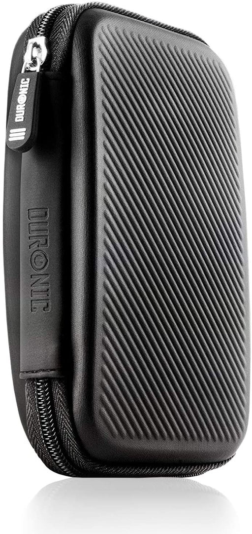 Duronic Hard Drive Case HDC2 /BK | BLACK | Portable EVA Storage Pouch for External Hardrive & Cables | Lightweight Protective | Suitable for WE/Western, Toshiba, Buffalo, Hitachi, Seagate, Samsung