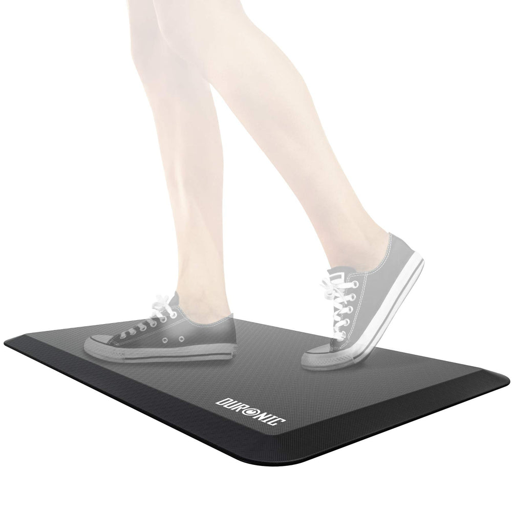Duronic Anti Fatigue Mat Dm Mat1 Large Office Sit Stand Desk Mat Ergonomic Support For Feet Hips Legs Back Comfort And Relief For Standing