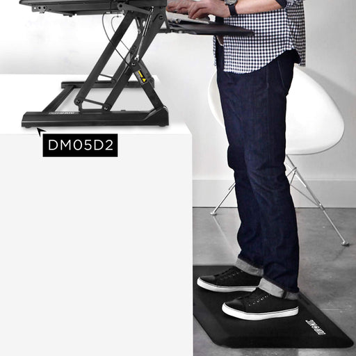 Duronic Anti-Fatigue Mat DM-MAT1 | Large Office Sit Stand Desk Mat | Ergonomic Support for Feet, Hips, Legs & Back | Comfort and Relief for Standing at Work | Non-Slip Kitchen Rubber Mat | 81cm x 51cm