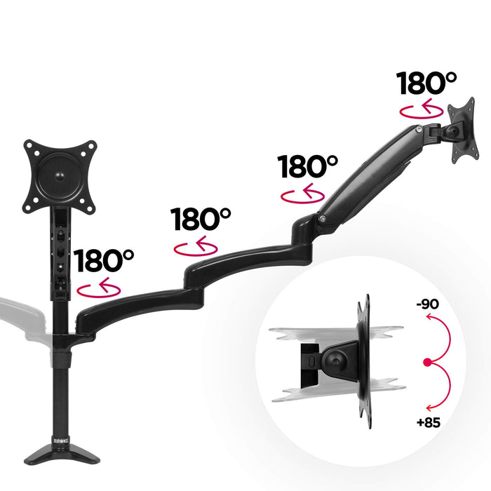 Duronic DM553 Spring Triple LCD LED Sprung Desk Mount Arm Monitor Stand Bracket with Tilt and Swivel + 10 Year Warranty