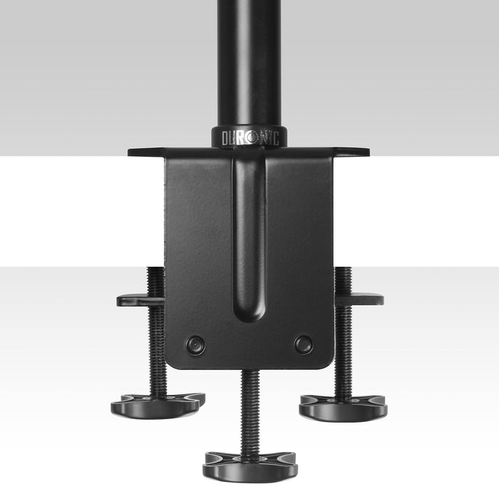 Duronic DM45 105cm Pole | Compatible with All Duronic Monitor Desk Mount Arms | Black | Steel | Extra Extra Long | 1000mm Length | 32mm Diameter | V-Shaped Clamp Included