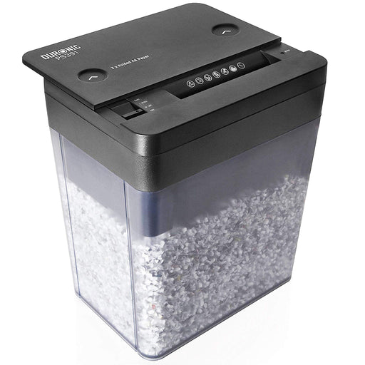 Duronic Mini Desktop Paper Shredder PS391 | Micro Cross Cut Electric Office Desk Shredder | 3X A4 Folded Sheets at a Time | GDPR Compliant: Protects Against Data Theft | 5 Litre Bin…