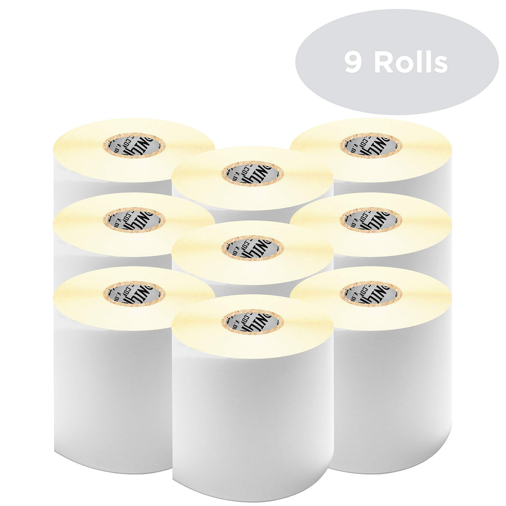 "Duronic Thermal Labels LL4X6 (9 ROLLS) SFP Seller Fulfilled Prime | 500x Label Roll | 102mmx152mm (6""x4"") 