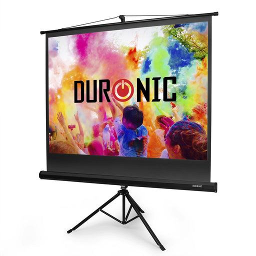 "Duronic Projector Screen TPS50/43 50"" Portable Tripod Projection Screen Brilliant Matt White For 