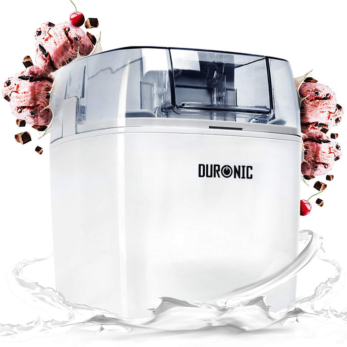 Duronic Ice Cream Maker IM540 | Create Homemade Frozen Desserts like Gelato, Sorbet and Frozen Yogurt | 540W | 1.5L Freezing Bowl | Make Delicious Creamy Ice Cream in Your Own Kitchen in 30 Minutes