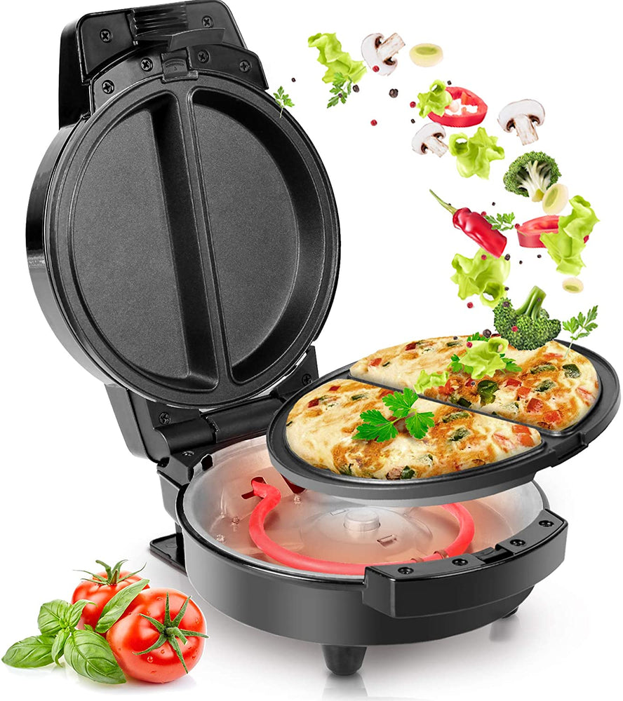 Duronic Omelette Maker OM60 | Electric 2 Omelette Cooker with Removable Plates | Non-Stick Deep-Fill Cooking Plates | 600W | Easy to Clean | Make Quick & Easy Omelettes for Breakfast / Lunch / Dinner